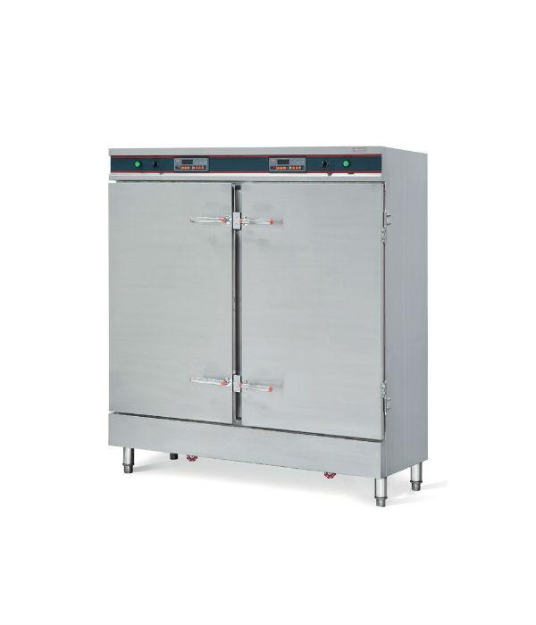 双门双控电热蒸饭柜|24盆不锈钢蒸饭柜