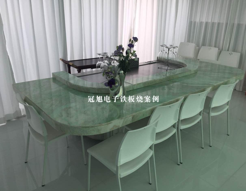 深圳铁板烧-大理石台面铁