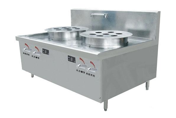 深圳鑫嘉华厨具厂家,供应电磁双头七星蒸炉
