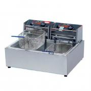 供应台式双缸单筛电炸炉